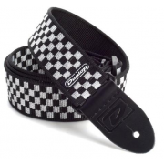Ремень для гитары Dunlop D3831 BK BLACK AND WHITE CHECK