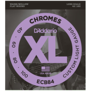 D`Addario ECB84 XL Chromes Flatwound Bass 40-100