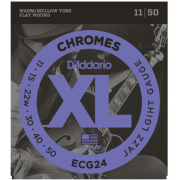 D`Addario ECG24 XL Chromes Jazz Light (11-50)