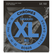 D`Addario ECG25 XL Xl Chromes Light (12-52)