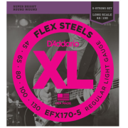 D`Addario EFX170-5 XL Flex Steels Light 5 String 45-130