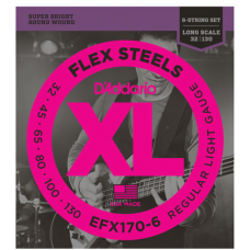 D`Addario EFX170-6 Flex Steels Light 6 String 32-130