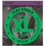 D`Addario EFX220 XL Flex Steels Super Light 40-95