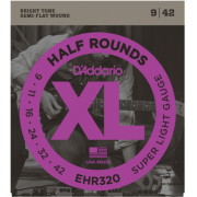 D`Addario EHR320 XL Half Rounds Super Light 09-42
