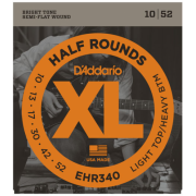 D`Addario EHR340 XL Half Rounds Light Top/ Heavy Bottom 10-52
