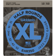 D`Addario EHR350 XL Half Rounds Jazz Light 12-52
