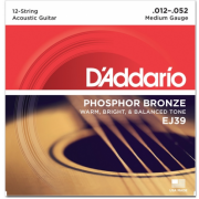 D`Addario EJ39 Phosphor Bronze Medium 12-String 12-52