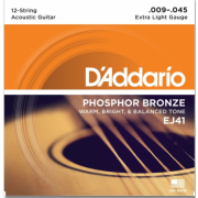 D`Addario EJ41 Phosphor Bronze 12-String X-Light 09-45