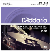 D`Addario EJ57 Banjo Nickel Custom Medium 5 String 11-22