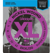 D`Addario EKXL120 XL Super Light Reinforced (9-42)