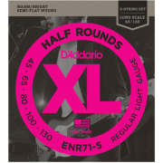 D`Addario ENR71-5 XL Nickel Half Rounds Bass 5 45-130