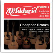 D`Addario EPBB170-5 Acoustic Bass Phosphor Bronze 5 String