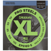 D`Addario EPS165-5 XL Pro Steels Reg Light Top / Med Bottom 45-135