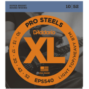D`Addario EPS540 XL Pro Steels Light Top / Heavy Bottom 10-52