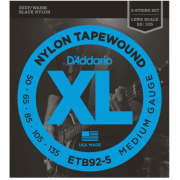 D`Addario ETB92-5 XL Nylon Tapewound 5 String Bass 50-135