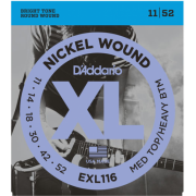 D`Addario EXL116 XL Medium Top / Heavy Bottom (11-52)