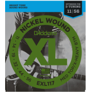 D`Addario EXL117 XL Medium Top / X-Heavy Bottom (11-56)