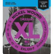 D`Addario EXL120-7 XL Super Light 7-String (09-54)