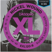 D`Addario EXL120-8 XL 8-String Super Light (09-65)