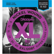D`Addario EXL120BT XL Nickel Balanced Tension, Super Light (09-40)