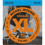 D`Addario EXL140 XL Light Top / Heavy Bottom (10-52)