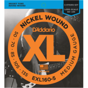 D`Addario EXL160-5 XL Medium 5 String 50-135