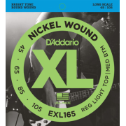 D`Addario EXL165 XL Reg Light Top / Med Bottom 45-105