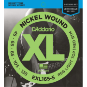 D`Addario EXL165-5 XL Reg Light Top / Med Bottom 5 String 45-135