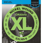 D`Addario EXL165-6 XL Reg Light Top / Med Bottom 6 String 32-135