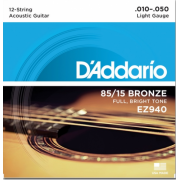 D`Addario EZ940 BRONZE MEDIUM 12 STRINGS 10-50