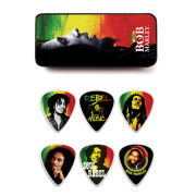 Медиаторы Dunlop BOB PT02H BOB MARLEY RASTA SERIES PICK TIN MEDIUM